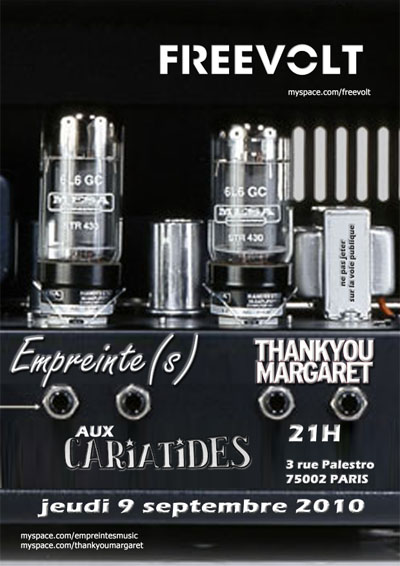 Empreinte(s), Thank you Margaret et High hopes aux Cariatides @ Paris